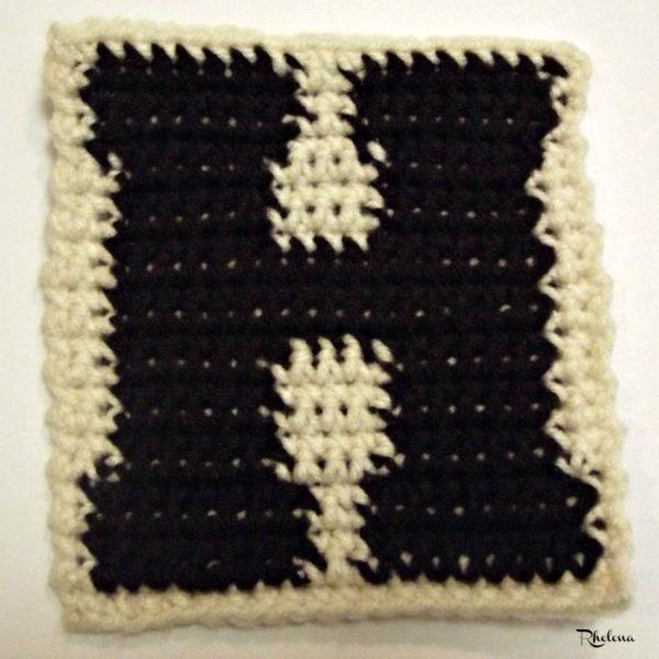 H-Uppercase Tapestry Block ~ FREE Crochet Pattern
