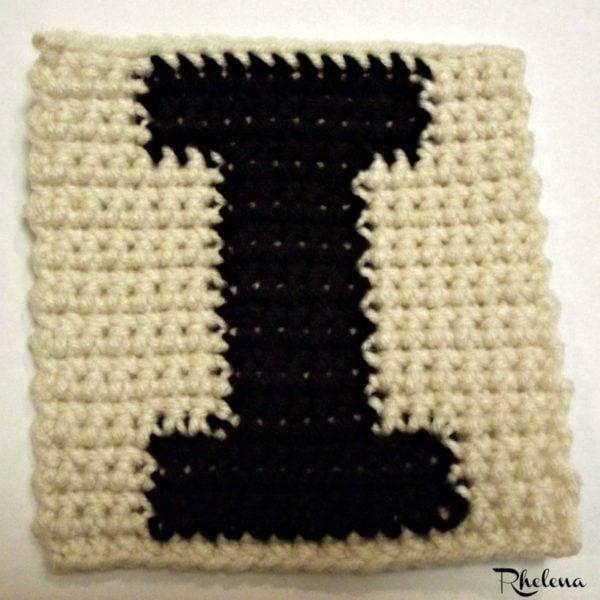 I-Uppercase Tapestry Block ~ FREE Crochet Pattern
