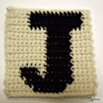 J – Uppercase Tapestry Crochet Block