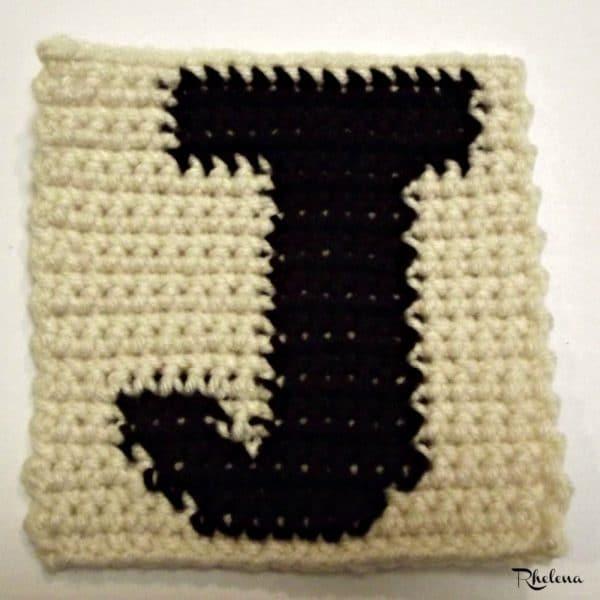 J - Uppercase Tapestry Crochet Block - CrochetNCrafts