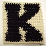K – Uppercase Tapestry Crochet Block