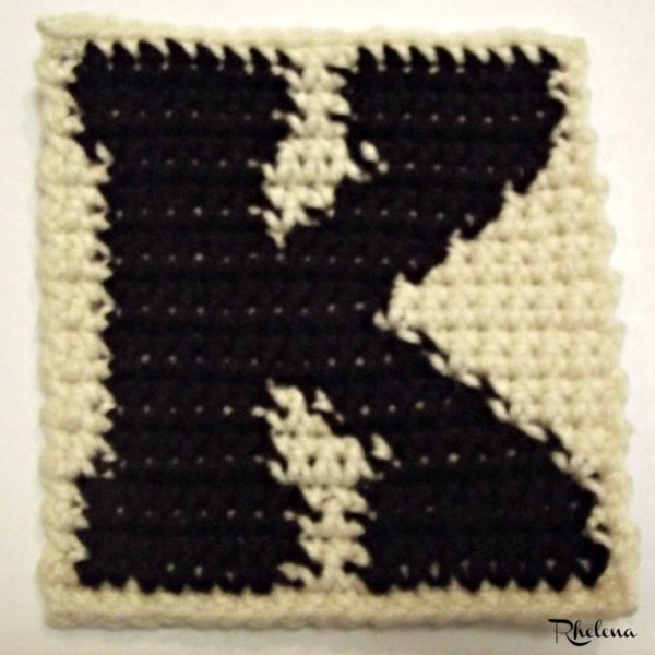 K-Uppercase Tapestry Block ~ FREE Crochet Pattern