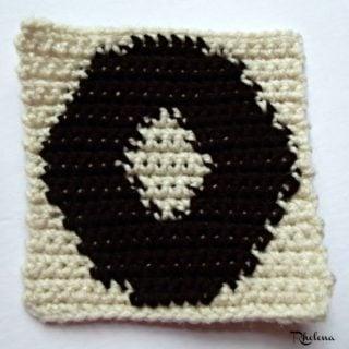 O - Uppercase Tapestry Block ~ FREE Crochet Pattern