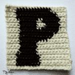 P – Uppercase Tapestry Crochet Block