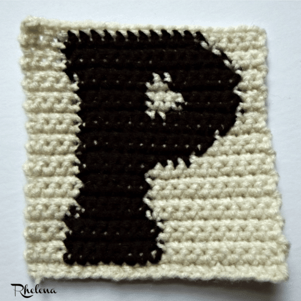 P - Uppercase Tapestry Block ~ FREE Crochet Pattern