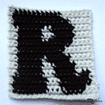 R - Uppercase Tapestry Crochet Block ~ FREE Crochet Pattern