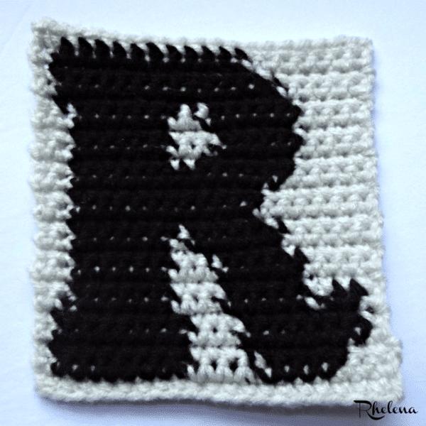 R Uppercase Tapestry Crochet Block Crochetncrafts