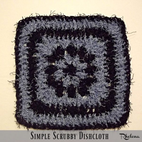 Simple Scrubby Dishcloth ~ FREE Crochet Pattern