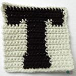T – Uppercase Tapestry Crochet Block