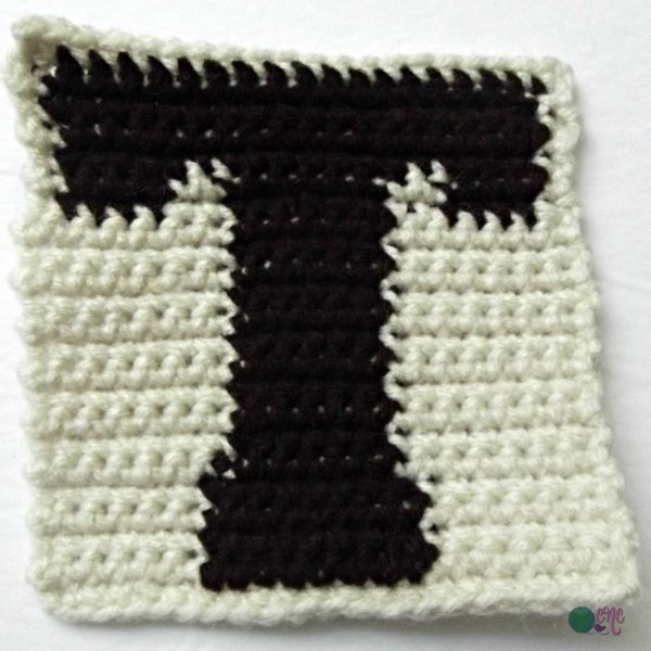 T-Uppercase Tapestry Block ~ FREE Crochet Pattern