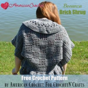 Bonanza Brick Shrug ~ FREE Crochet Pattern by American Crochet