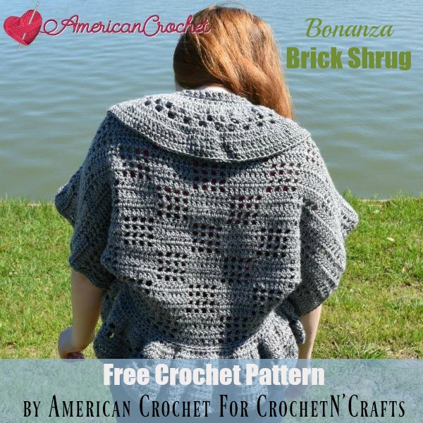 Bonanza Brick Shrug ~ FREE Crochet Pattern by American Crochet