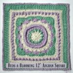 Buds-a-Blooming 12″ Afghan Square