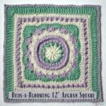 "Buds-a-Blooming 12"" Afghan Square ~ FREE Crochet Pattern"