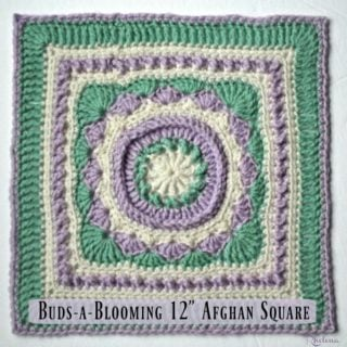 """Buds-a-Blooming 12"""" Afghan Square ~ FREE Crochet Pattern"""