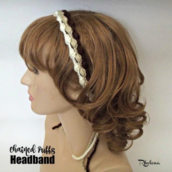 Chained Puffs Headband ~ FREE Crochet Pattern