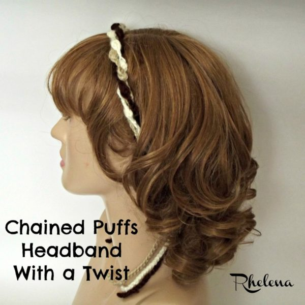 Chained Puffs Headband With a Twist