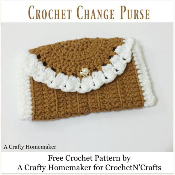 Crochet Change Purse ~ FREE Crochet Pattern by A Crafty Homemaker