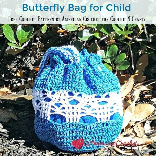 Crochet Butterfly Bag for Child ~ FREE Crochet Pattern by American Crochet