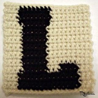 L - Uppercase Tapestry Crochet Block