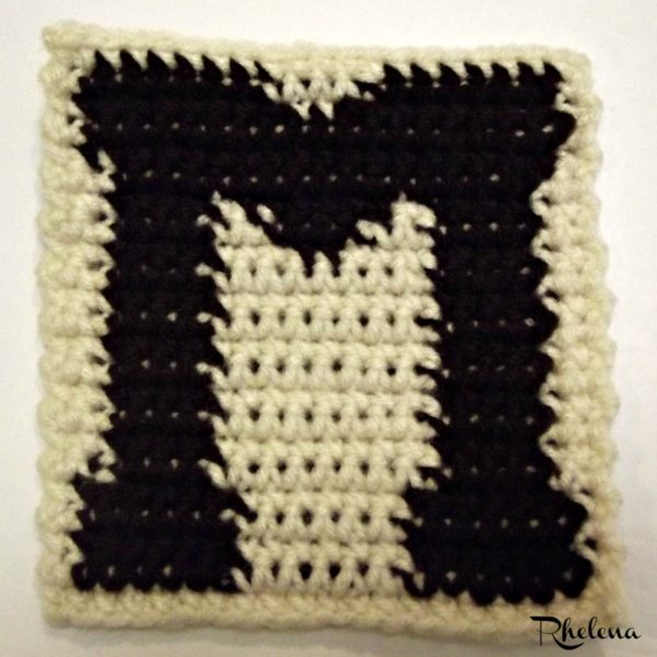 M-Uppercase Tapestry Block ~ FREE Crochet Pattern