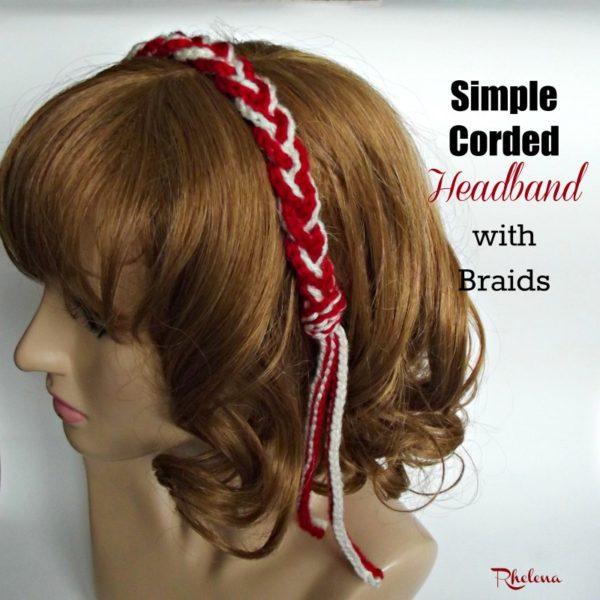 Simple Corded Headband ~ FREE Crochet Pattern