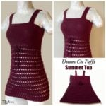 Dream On Puffs Summer Top ~ FREE Crochet Pattern