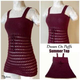 Dream On Puffs Summer Top ~ FREE Crochet Pattern