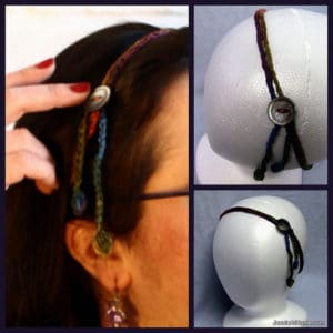 Simple Hair Tie Back with Button by Jessie At Home