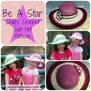 Be A Star Child's Sun Hat by Jessie At Home