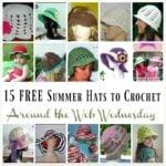 AWW ~ 15 Summer Hats to Crochet