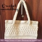 Crochet Handbag by A Crafty Homemaker for CrochetN'Crafts