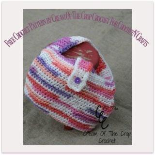 Little Girls Purse by Cream Of The Crop Crochet ~ FREE Crochet Pattern
