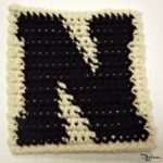 N – Uppercase Tapestry Crochet Block