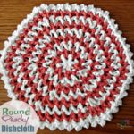 Round Peachy Dishcloth ~ FREE Crochet Pattern