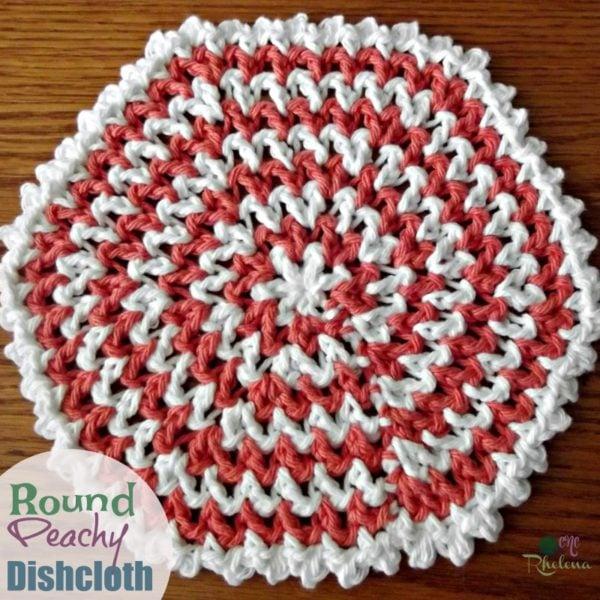 Round Peachy Dishcloth ~ FREE Crochet Pattern