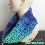 Self-Striped Colorblock Cowl ~ FREE Crochet Pattern