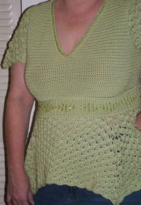 Sonrisa Empire Waist Top by CrochetKim