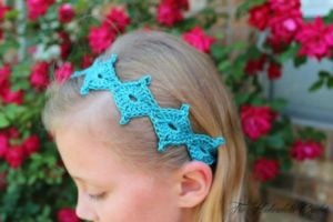 Spring Diamond Crochet Tie Back by Shannon Kilmartin for Cre8tion Crochet