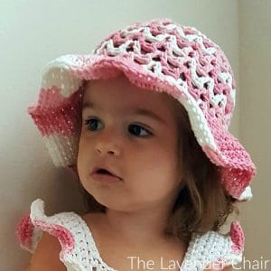 Sun Hat shown on a toddler.