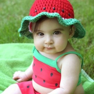Watermelon Sun Hat by Repeat Crafter Me