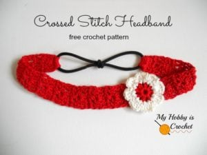 Crossed Stitch Headband by My Hobby is Crochet
