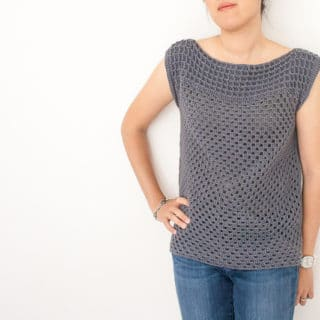 Granny Squared Crochet Top by One Dog Woof
