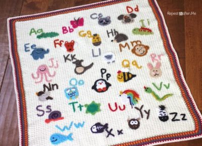 Animal Alphabet Afghan by Repeat Crafter Me