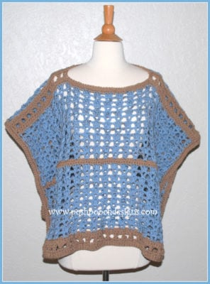 Sand and Sea Poncho by Posh Pooch Designs