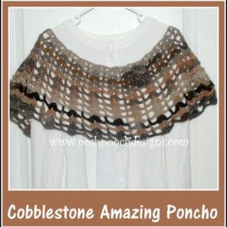 Cobblestone Amazing Poncho by Posh Pooch Designs