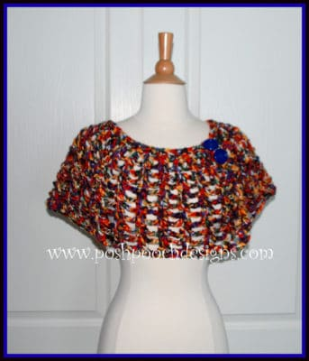 Whimsical Cape Shawl by Posh Pooch Designs