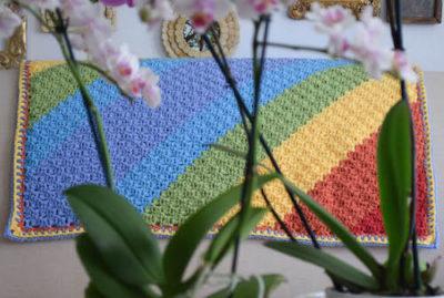 Diagonal Rainbows Baby Blanket