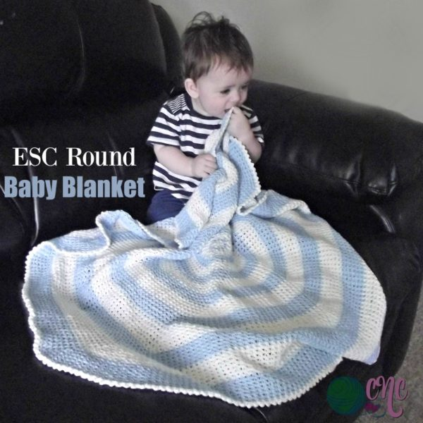 ESC Round Baby Blanket ~ FREE Crochet Pattern