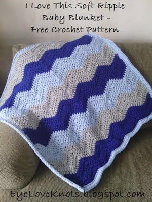 Soft Ripple Baby Blanket by EyeLoveKnots